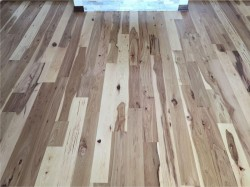new hickory floor near mantle