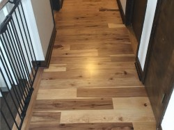 new hickory floor stairwell