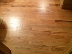 natural red oak floor