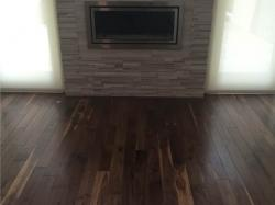 prefinished walnut in living room 1