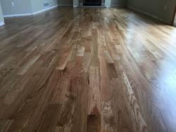 white oak wood floor close up