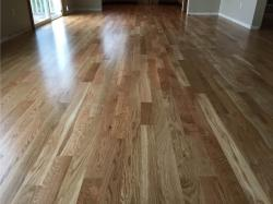 white oak wood floor in dining room