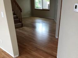 white oak wood floor in hallway