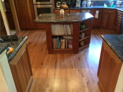 natural red oak in kitchen