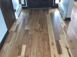 new hickory floor in entry way