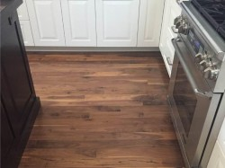 prefinished walnut in kitchen 2