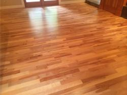 american cherry wood floor in entry way