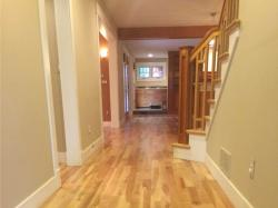 american cherry wood flooring in entry way