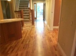 american cherry wood flooring in hallway