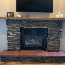 floor crafters fireplace