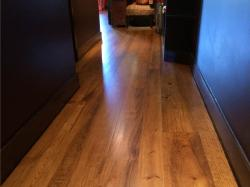 heart pine wood flooring in hallway