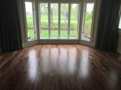 pre finished walnut flooring in living room