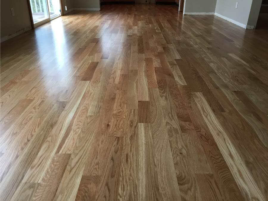 Oak Wood Room ~ White oak hardwood flooring in boulder co floor crafters